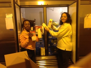 Rainbow CDC receives dairy donation.