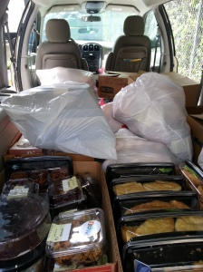 Volunteer food runners are matched with a scheduled food run to help move smaller quantities around Montgomery County  in their cars.