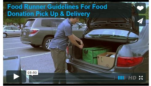 Safe food handling videos for food donors, recipient organizations and volunteer food runners. Click HERE