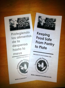 Keeping Food Safe from Pantry to Plate in English and Spanish
