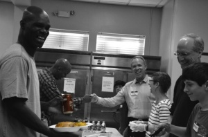 New freezers help MCCH provide nutritious meals to the 700 men they serve.
