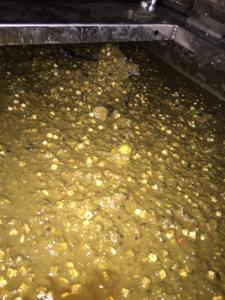 It takes a lot of trial and error adjusting the mix of produce, temperature, agitation, and heating time to achieve the perfect slurry.