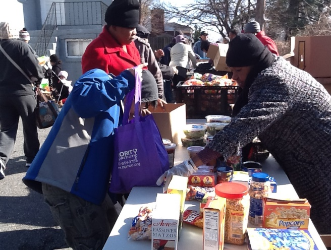 New Creation Church food distribution