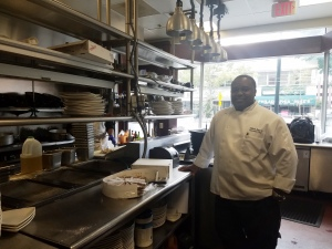 Chef William at Bethesda Jazz and Blues Club generously donates unserved food after the Bethesda Green Gala