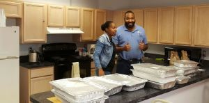 Seneca Heights Apartments, permanent supportive housing for formerly homeless people welcome these delicious, prepared meals for their residents.